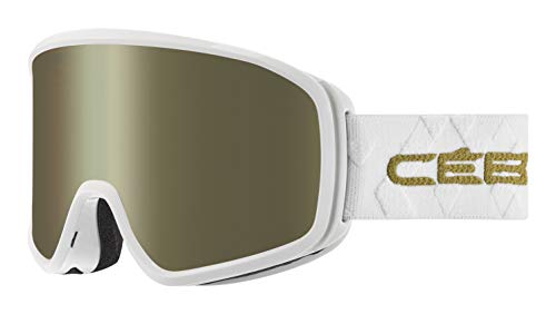 Cébé Striker Evo skibrillen, uniseks, volwassenen, glanzend wit goud, large