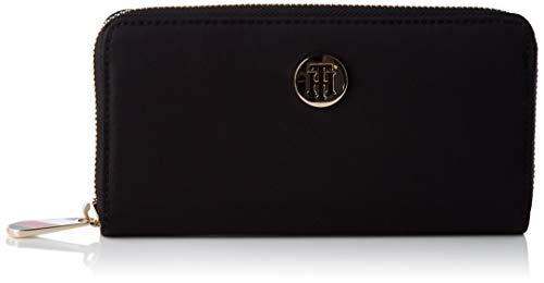 Tommy Hilfiger Poppy LRG ZA, Productos de cuero pequeños para Mujer, Negro, One Size