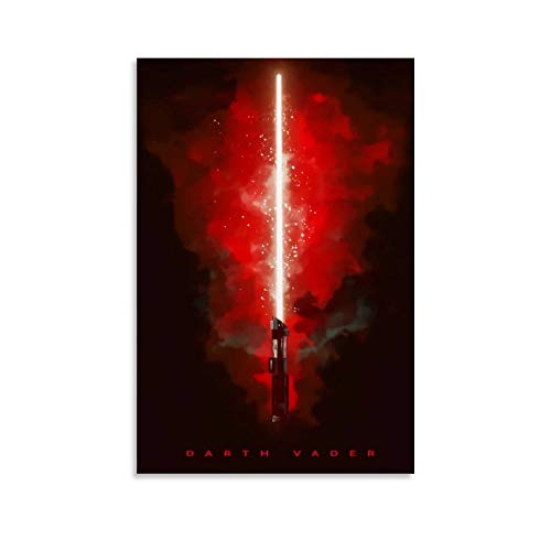 DRAGON VINES Star Wars Darth Vader Revenge of The Sith - Lámina decorativa para pared (60 x 90 cm), diseño de sable láser