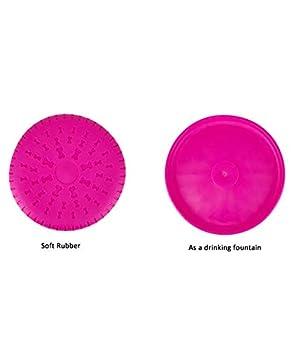 AVANZONA Frisbee pour Chiens en Caoutchouc, Jouet résistant interactif, Jouets de Jeu et de Dressage pour Chiens 23 cm, Couleurs aléatoires.
