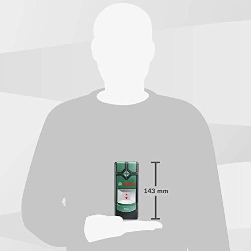 Bosch Truvo - Detector digital en caja metálica (metal ferroso, cable con corriente, metal no ferroso, AAA, 1.5 V)