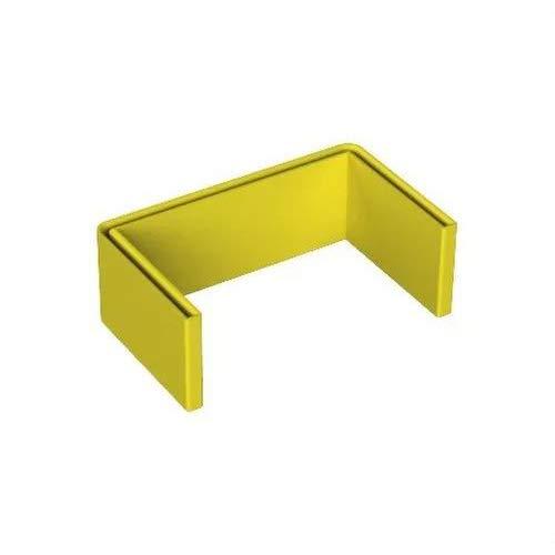 Unex 66902 PVC Plastificado Protección Perfil'U', Amarillo, Paquete de 20