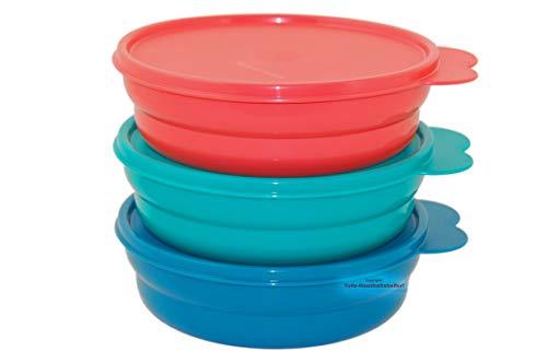 Tupperware® Drops 3er-Set 500 ml Schüssel, Dessert-Schalen, Kühlschrank-Dosen NEU+OVP