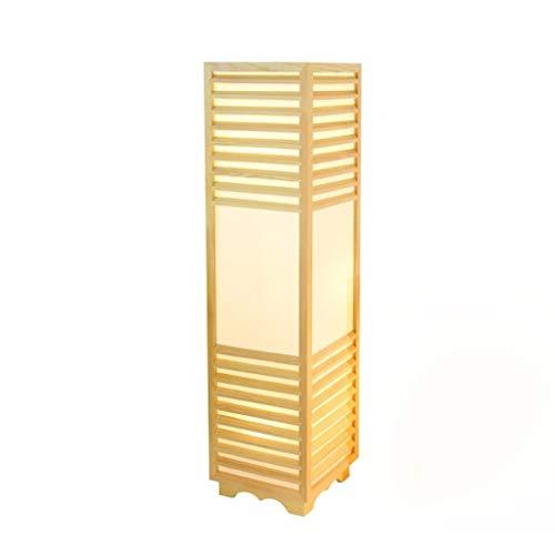 Stehlampe Japanische Tischlampe Raumlampe Einfache Kreative Holz Stehlampe Chinesische Lampe Beleuchtung (Größe : L)
