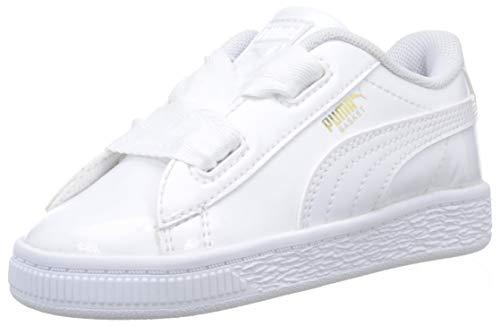 Puma Basket Heart Patent Inf, Zapatillas para Bebés, Blanco White, 27 EU