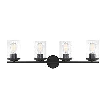 Savoy House 8-8020-4-BK Marshall Matte Black 4-Light Bathroom Vanity Light  10  W x 10 H