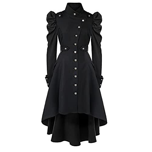 sujinxiu Vestido gtico para mujer, disfraz medieval con mangas abullonadas, gabardina renacentista irlandesa, vestido victoriano para Halloween, Cosplay