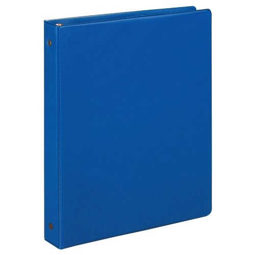 Samsill 1 Inch Value Document Storage 3 Ring Binder, Round Ring, 11 x 8.5 Inches, Cobalt Blue (11361)