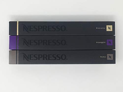 Nespresso - Varietät Pack - Ristretto - Arpeggio - Roma - 30 Kapseln