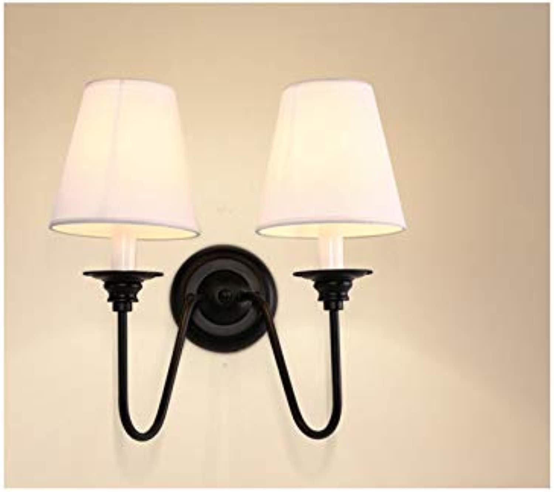 Zlshm Kreative Schlafzimmer Nachttischlampe Retro Doppelkopf dekorative Beleuchtung, Doppelkopf