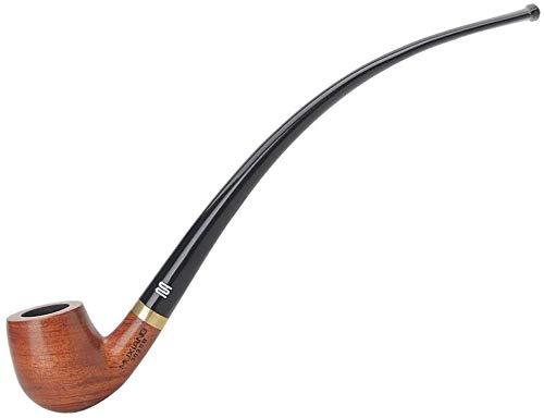 ロングチューブウッド喫煙パイプ木製タバコパイプアクリルマウスピース