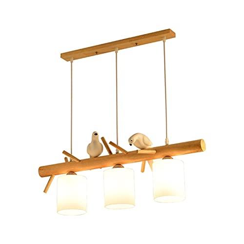 YXLMAONY Iluminación de araña Moderna con Pantalla de decoración de pájaros Acabado de Accesorio de Altura Ajustable para Comedor, Dormitorio, Sala de Estar, Entrada de Pasillo de Isla