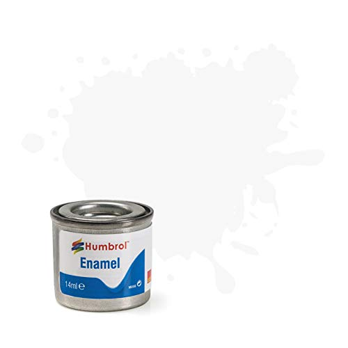 Best Price Square Humbrol 14ml No. 1 Tinlet Enamel Paint 22 (White Gloss)