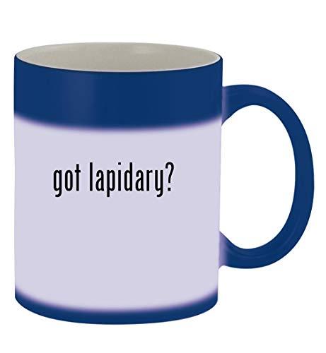 got lapidary? - 11oz Magic Color Changing Mug, Blue