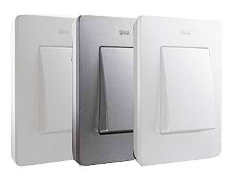 Simon 8200610-093 - Marco 1 Elem. Aluminio Base Blanca