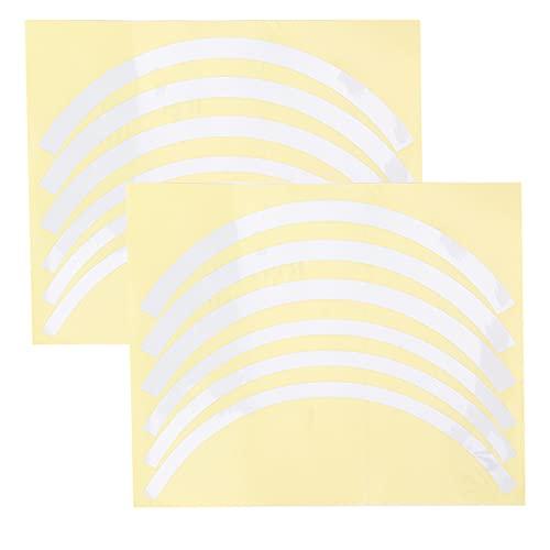 KAKAKE Cubierta de Rueda de Scooter eléctrico, Buen Efecto de reflexión Mejora la Visibilidad Pegatina Reflectante de Scooter para conducción Nocturna(Silver)