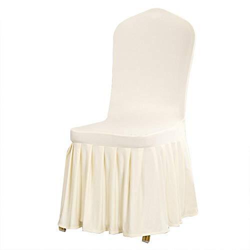 TOPINCN Stoel Cover Afneembare Plissé Rok Stretch Seat Slipcover Stoel Protector Cover voor Hotel Wedding Party Eetkamer