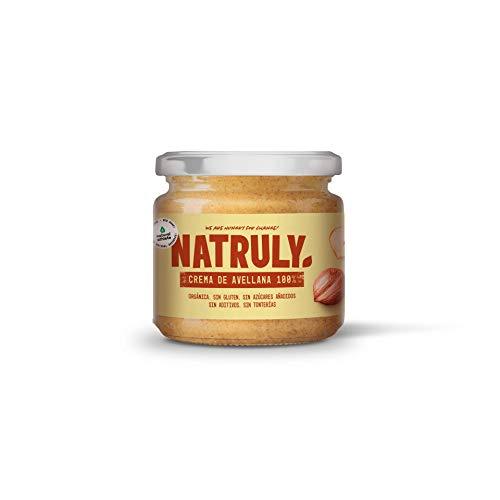 NATRULY Crema de Avellanas BIO, 100% Avellanas Sin Azúcar,
