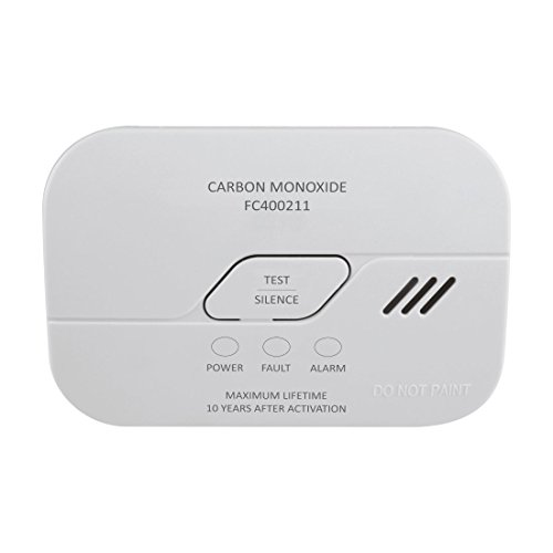 ELRO FC4002 Detector de monóxido - De Carbono Sensor de 10 años según EN50291 - con botón de Prueba e indicador de Advertencia de batería - Blanco