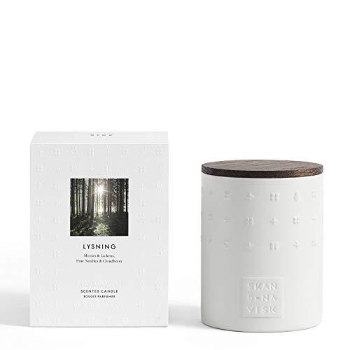 Skandinavisk - Vela perfumada de cerámica con tapa de roble ahumado (300 g)