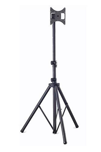 """Elitech Steel Portable TV Tripod Stand for up to 37"""" Flat Panel TV, Height Adjustable. Max Stand Height 70"""""""