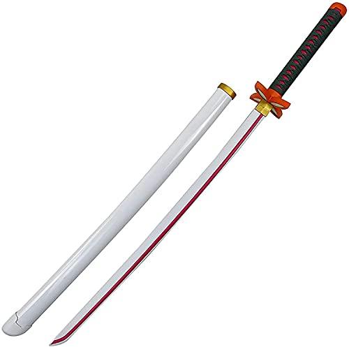 Demon Slayer Blade COS espada de madera Kochou Kanae modelo de arma de apoyo, para amantes del anime, juguetes de accesorios de cosplay, juguetes de armas decorativas de Demon Slayer Blade
