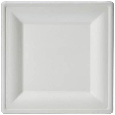 AmazonBasics Compostable Square Plates, 6-Inches, Pack of 500