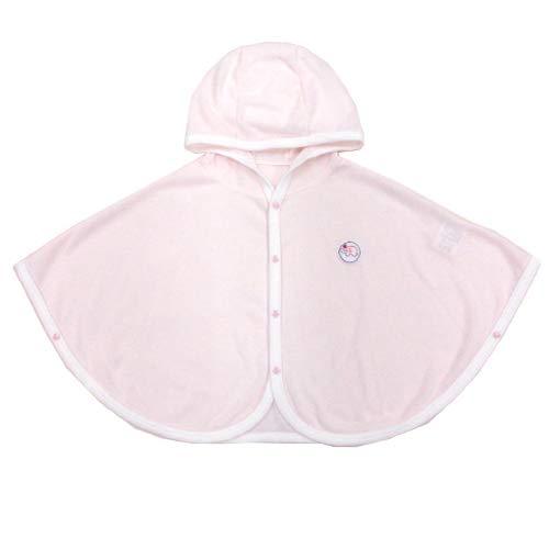 ★日本製★メッシュ素材のUVカットベビーケープ(フード付マント) 紫外線予防 (ピンク)