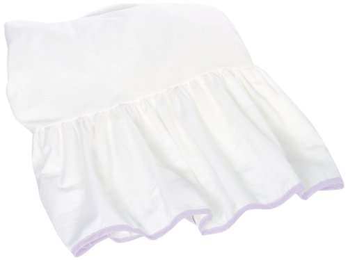 Baby Doll Bedding Unique Crib Skirt/Dust Ruffle for Girls, Lavender