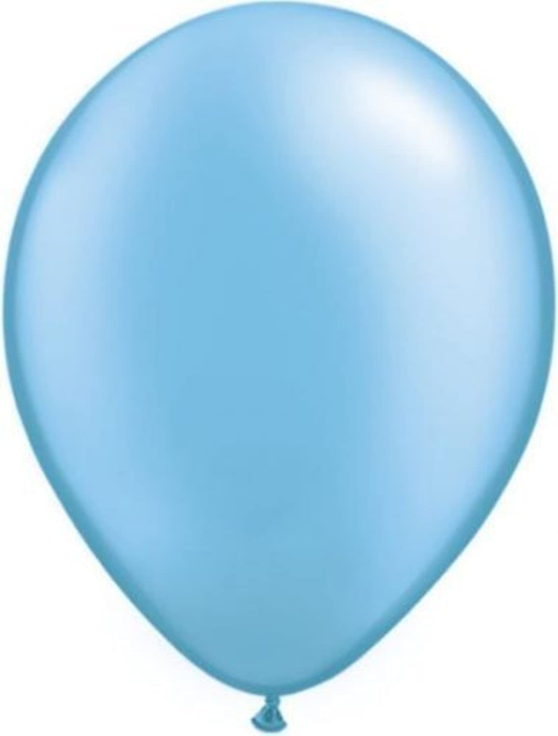 Pastel Pearl Colours Qualatex Balloons   11  Pearl Azure Balloon by Qualatex