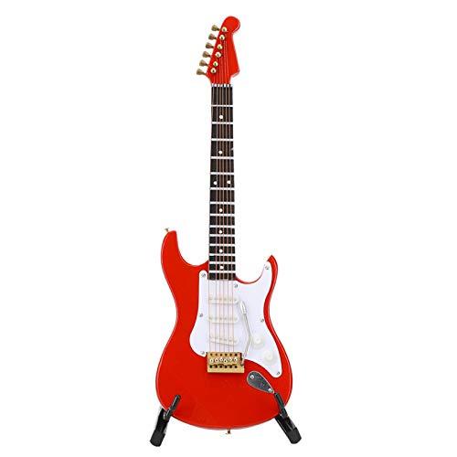 Fydun Instrumentos de música en Miniatura con Soporte Mini Guitarra eléctrica roja...