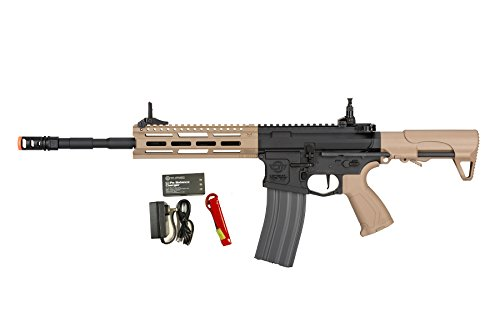 G&G CM16 Raider L 2.0E 6mm Airsoft Rifle in Black/Tan w/MOSFET (Combo)