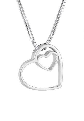 Elli Halskette Herz Liebe 925 Sterling Silber