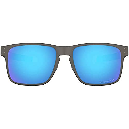 Oakley Herren Holbrook Metal Sonnenbrille, Braun (Matte Gunmetal), 55