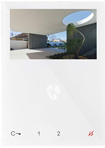 Monitor a Color de 4,3 Pulgadas, Ap Blanco 6721Wcon función Manos Libres, 2 Cables.