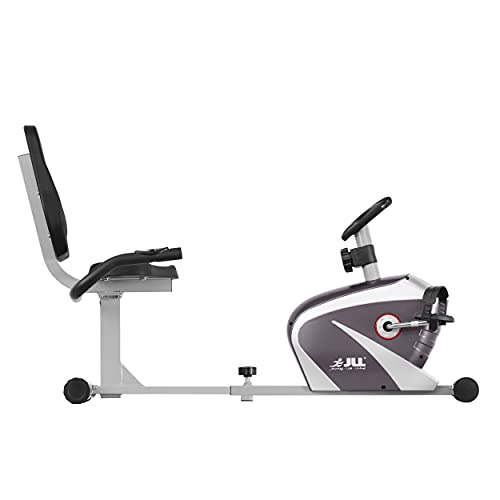 JLL RE100 Recumbent Home Exercise Bike. 5kg Two-Way Flywheel with 8 Levels of Magnetic...