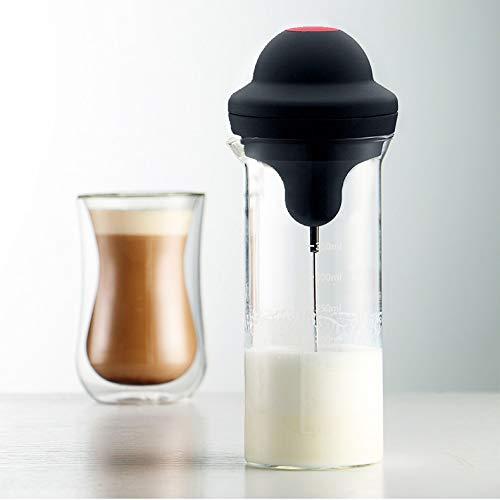 Montalatte elettrico schiumatore per il latte elettrico montalatte a batteria latte cappuccino foam maker frullato frullatore frullatore bacchetta lanciatore grande capacità tazza contenitore (vetro)