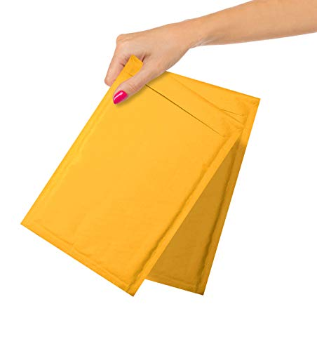ABC Pack of 25 Gold Kraft Bubble Padded Envelopes 7.25 x 11 Kraft Bubble Peel and Seal Envelopes. Yellow Kraft Bubble Mailers 7 1/4 x 11. Shipping Bags for Mailing, Packing, Packaging. Wholesale Price