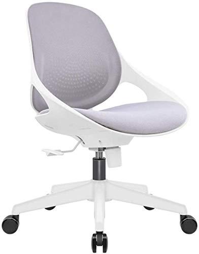 Silla de Oficina Sillas de Oficina para hogar, sillas de Escritorio, Realmente, Silla ergonómica de Oficina con función de inclinación y Cerradura de posición (Color : Grey)
