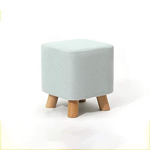 WEIZI Cómodo Otomano Súper Suave Sofá Reposapiés Patas de Madera Marco Taburete de Pie Taburete Cuadrado Muebles Modernos Decoración (Color: Azul)