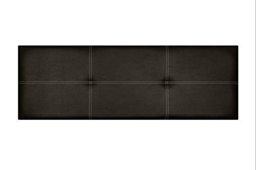 Cabecero de Cama Modelo Paris, en Doble Costura y tapizado en Polipiel Ahazar. Altura 50cm. Pro Elite. Color Chocolate. para Cama de 135 (Medidas 145x50x5) Pro Elite.