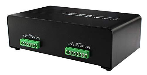 2-Kanal-Wahlschalter für A / B-Lautsprecher mit Lautstärkeregler Wahlschalter für 2/4-Zonen-Lautsprecher mit automatischer Impedanzanpassung