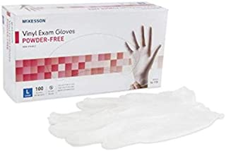 MCK11151310 - Exam Glove McKesson NonSterile Powder Free Vinyl Ambidextrous Smooth Clear Not Chemo Approved Large