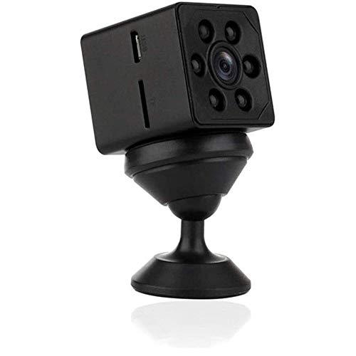 Qxinjinxsxt Inicio inalámbrica WiFi 1080P cámara, tarjeta inteligente portátil mini cámara, cámara de vigilancia de seguridad Deportes, caja de metal, 160 ° super gran angular de visión nocturna Conve