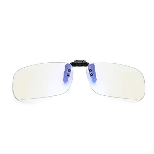 Filtro de luz Azul Gafas Clip on Computadora Gafas Antiluz Azul y UV para Ordenador, Tableta, Smartphone, televisor y Gaming-Anti eyestrain(Clip Anti luz Azul)