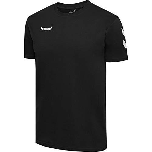 Hummel Herren HMLGO Cotton T-Shirts, Schwarz, L