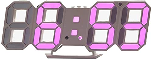 DFGBXCAW Reloj Despertador Digital, Brillo Ajustable Reloj de Pared Esqueleto 24/12 Cambio automático de Color Snooze de plástico Silencioso para Empresa Familiar, Verde