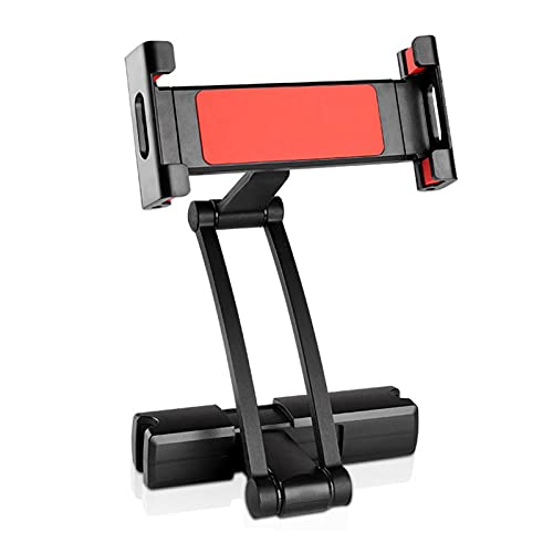USNASLM Soporte para tableta de coche, para tablet de 5 a 10 pulgadas, de aluminio, flexible, giratorio de 360 grados, soporte de montaje para reposacabezas de asiento trasero