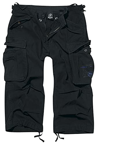 Brandit Industry Vintage 3/4 Männer Short schwarz 3XL 100% Baumwolle Casual Wear, Festival