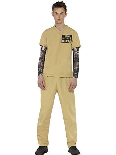 Smiffy's - Disfraz de convicto, color beige (44452XS)